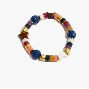 Madewell beaded moon bracelet